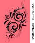 ornate pattern background vector | Shutterstock .eps vector #1183430356