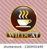 shiny emblem with coffee cup... | Shutterstock .eps vector #1183431640