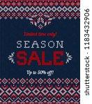 ugly sweater christmas season... | Shutterstock .eps vector #1183432906