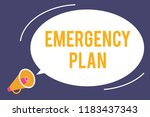 word writing text emergency... | Shutterstock . vector #1183437343