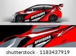 racing car wrap design. sedan... | Shutterstock .eps vector #1183437919