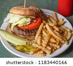 standard american hamburger... | Shutterstock . vector #1183440166