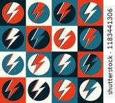 flash vector. lightning pop art ... | Shutterstock .eps vector #1183441306