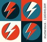 flash vector. lightning pop art ... | Shutterstock .eps vector #1183441309