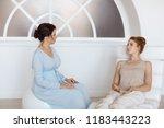 psychologist having session...   Shutterstock . vector #1183443223