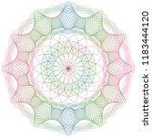 vector guilloche elements for... | Shutterstock .eps vector #1183444120
