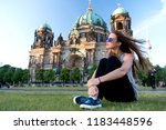 carefree girl relax in germany... | Shutterstock . vector #1183448596