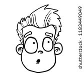man with confused face cartoon... | Shutterstock .eps vector #1183449049