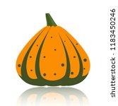 pumpkin flat icon. sign of... | Shutterstock .eps vector #1183450246