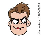 man with angry face cartoon... | Shutterstock .eps vector #1183450339