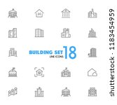building icons. set of  line... | Shutterstock .eps vector #1183454959