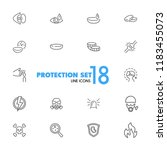protection icons. set of  line... | Shutterstock .eps vector #1183455073
