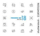 finance icons. set of line... | Shutterstock .eps vector #1183455106