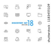 discovery icons. set of line... | Shutterstock .eps vector #1183455109