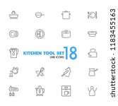 kitchen tool icons. set of ... | Shutterstock .eps vector #1183455163