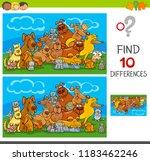cartoon illustration of finding ... | Shutterstock .eps vector #1183462246