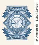 sustainable organic pasture... | Shutterstock .eps vector #1183463413