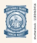 sustainable organic farm fresh... | Shutterstock .eps vector #1183463416
