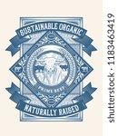 sustainable organic pasture... | Shutterstock .eps vector #1183463419