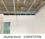 interior construction of... | Shutterstock . vector #1183473706