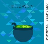 halloween pot with potion night ...   Shutterstock .eps vector #1183474300