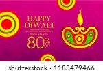 innovative poster for diwali or ... | Shutterstock .eps vector #1183479466
