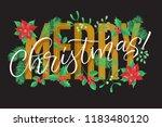 vector holidays lettering.... | Shutterstock .eps vector #1183480120