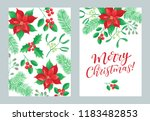 vector set of holidays design.... | Shutterstock .eps vector #1183482853