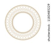decorative round frame for... | Shutterstock .eps vector #1183485229