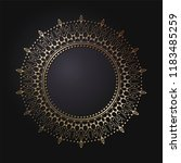 decorative round frame for... | Shutterstock .eps vector #1183485259