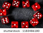 risk concept playing dice at... | Shutterstock . vector #1183486180