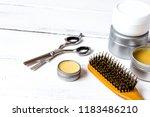 men's cosmetics for hair care... | Shutterstock . vector #1183486210