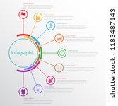 vector infographic templates... | Shutterstock .eps vector #1183487143
