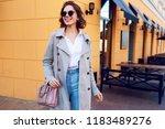 autumn fashionable image of...   Shutterstock . vector #1183489276