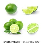 lime. fruit with a half... | Shutterstock . vector #1183489429