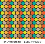 colorful hexagon pattern.... | Shutterstock .eps vector #1183494319