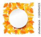 white paper circle with... | Shutterstock .eps vector #1183496023