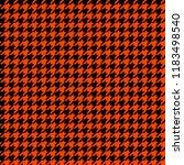 orange and black houndstooth... | Shutterstock .eps vector #1183498540