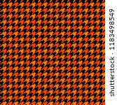 orange and black houndstooth... | Shutterstock .eps vector #1183498549