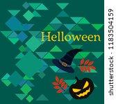 halloween autumn pumpkin fallen ... | Shutterstock .eps vector #1183504159