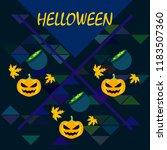 halloween autumn pumpkin fallen ... | Shutterstock .eps vector #1183507360