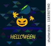 halloween autumn pumpkin fallen ... | Shutterstock .eps vector #1183507540