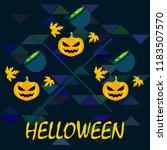 halloween autumn pumpkin fallen ... | Shutterstock .eps vector #1183507570