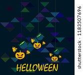 halloween autumn pumpkin fallen ... | Shutterstock .eps vector #1183507696