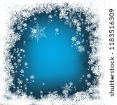 blue winter background with... | Shutterstock . vector #1183516309