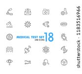 medical test icons. set of line ... | Shutterstock .eps vector #1183516966