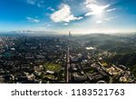 skyline of taipei city in... | Shutterstock . vector #1183521763