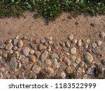 stony road. decorative... | Shutterstock . vector #1183522999