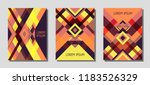 set of cover page layouts ... | Shutterstock .eps vector #1183526329