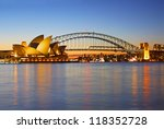 Small photo of SYDNEY - SEPTEMBER 7: The Sydney Opera House, viewed from Circular Quay in Sydney, Australia on September 7, 2008. It was designed by Danish architect Jorn Utzon.